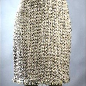 ST JOHN COUTURE Wool Tweed Boucle Skirt Size 16
